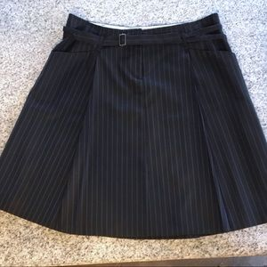 Max Studio Pinstriped A-line skirt w/pockets